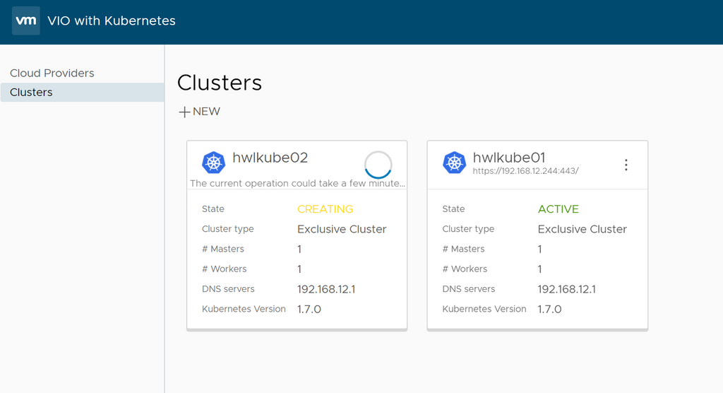 Creating Kubernetes Cluster