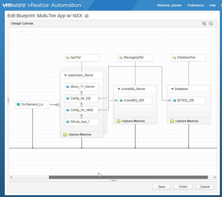 NSX Components in vRealize Automation Blueprint