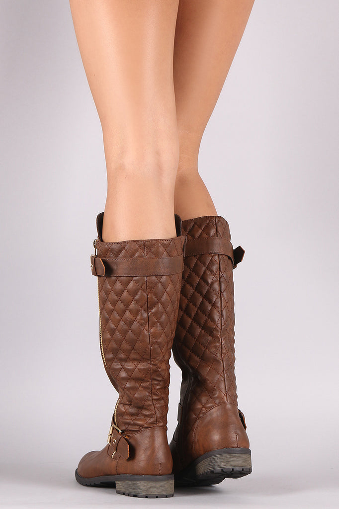 boots equestrian size shoes tommy loading hilfiger image andrea quilted s itm womens is cognac quilt riding