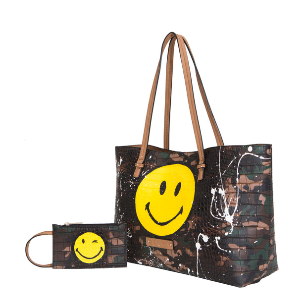 De Smiley Edition (Green Camouflage Tote)