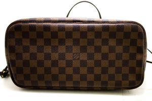 Louis Vuitton Damier Ebene Neverfull MM Shoulder Bag Canvas Tote Q50-Louis Vuitton-hannari-shop
