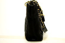 CHANEL Caviar PST Chain Shoulder Bag Shopping Tote Black Quilted Q06-Chanel-hannari-shop