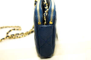CHANEL Caviar Navy Wallet On Chain WOC W Zip Chain Shoulder Bag p14-Chanel-hannari-shop
