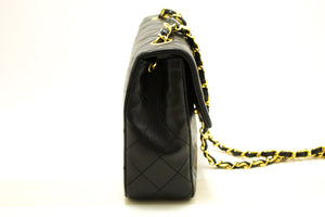 CHANEL Mini Small Chain Shoulder Bag Crossbody Black Quilted Flap p22-Chanel-hannari-shop