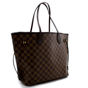 ULouis Vuitton Damier Ebene neverfull MM Wamabhegi Wesikhwama Canvas t57 hannari-shop