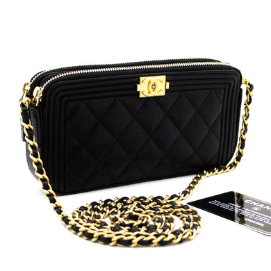 Tanan-kavoakan'i CANar Boy Black Caviar On Chain WOC W Zip Shoulder Bag ao amin'ny XnUMX-hannari-shop