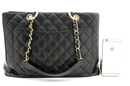 CHANEL Black Wallet On Chain WOC Shoulder Bag Crossbody Lambskin n88