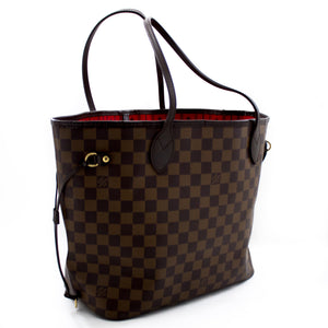 Louis Vuitton Damier Ebene neverfull MM Mfuko wa Mabega wa mfuko wa Canvas Fidia u24 hannari-shop