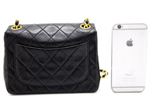 CHANEL Mini Square Small Chain Ramenní taška Crossbody Black u62 hannari-shop
