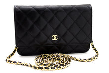 CHANEL Caviar Wallet On Chain WOC Bolso de hombro negro Crossbody t79-hannari-shop