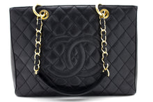 "CHANEL Caviar GST 13"" Grand Shopping Tote Chain Shoulder Bag Black u12-hannari-shop"