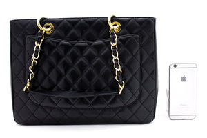 "CHANEL Caviar GST 13 ""Grand Shopping Tote Chain Skoudertas Swart u12-hannari-shop"
