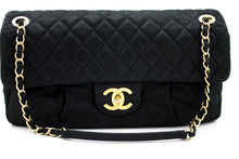 CHANEL Calfskin Sparkle Leather Chain Shoulder Bag Black Quilted u11-hannari-shop