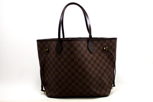 Louis Vuitton Damier Ebene Neverfull MM Shoulder Bag Canvas Tote Q86-Louis Vuitton-hannari-shop