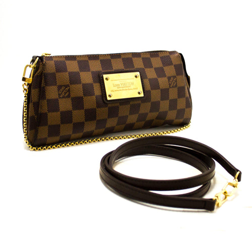 路易威登(Louis Vuitton)Eva Ebene Damier帆布单肩包手提包金R39-路易威登(Louis Vuitton)-hannari-shop