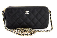 CHANEL Caviar Wallet On Chain WOC Double Zip Chain Shoulder Bag u10-hannari-shop