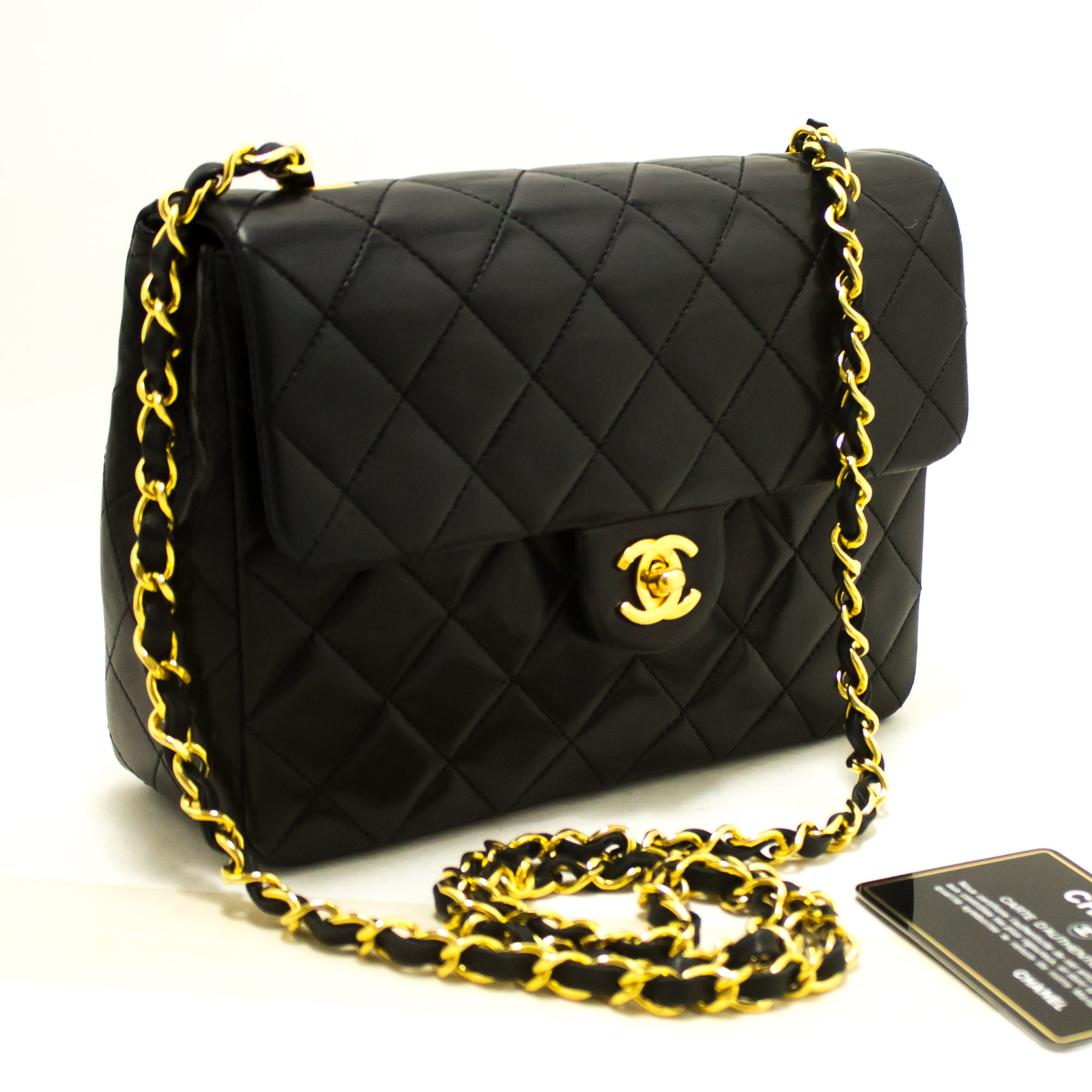 d118a122ecc070 ... CHANEL Mini Square Small Chain Shoulder Bag Crossbody Black Q80-Chanel-hannari-shop  ...