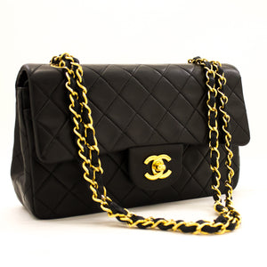 "CHANEL 2.55 Double Flap 9 ""Pq ejika apo dudu Lambskin Purse y57 hannari-shop"