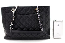"CHANEL Caviar GST 13 ""Grand Shopping Tote Chain Shoulder Bag Black u05-hannari-shop"