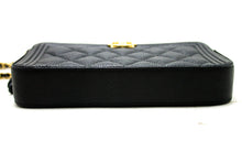 MINT! CHANEL Boy Black Caviar Wallet On Chain WOC Zip Shoulder Bag Q11-Chanel-hannari-shop