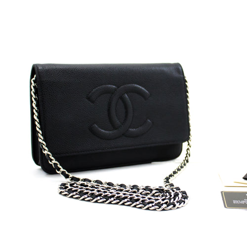 CHANEL Caviar Wallet On Chain WOC ڪاروائي ڪلائوڊ باس Crossbody y48 hannari-shop