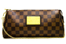 Louis Vuitton Eva Ebene Damier Canvas Shoulder Bag Handbag Gold R41-Louis Vuitton-hannari-shop