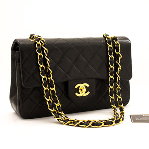 "CHANEL 2.55 Double Flap 9 ""Pq ejika apo dudu Lambskin Purse y54 hannari-shop"