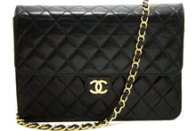 CHANEL Chain Shoulder Bag Clutch Black Quilted Flap Lambskin R46-nel-hannari-shop
