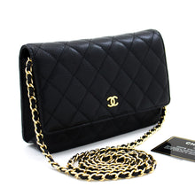 Portafoglio CHANEL Caviar On Chain WOC Black Bag Spalla Crossbody t04-hannari-shop