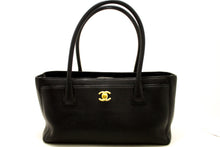 Borsa a tracolla CHANEL Executive Tote 2014 Caviar in pelle nera oro j02-Chanel-hannari-shop