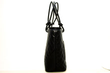 CHANEL Cambon Tote Small Shoulder Bag Black Quilted Calfskin R43-Chanel-hannari-shop