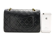 "CHANEL 2.55 Double Flap 10 ""Chain Bhegi Bhegi Nerudzi Blackskin y75 hannari-shopu"