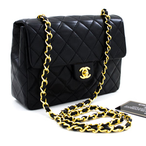 CHANEL Mini Keʻena liʻiliʻi Chain Shoulder Bag Crossbody Black Purse u94 hannari-shop
