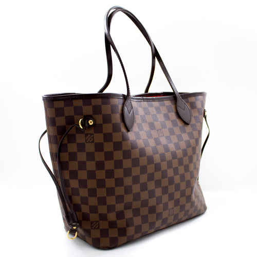 路易威登(Louis Vuitton)丹尼尔(Damier Ebene)Neverfull MM单肩包帆布s73-hannari-shop