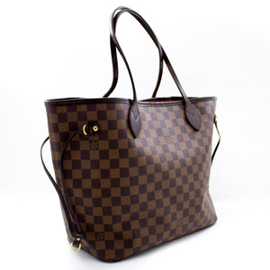 Louis Vuitton Damier Ebene Neverfull MM Shoulder Bag Canvas s73