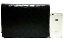CHANEL Chain Shoulder Bag Clutch Black Quilted Flap Lambskin Q30-hanel-hannari-shop