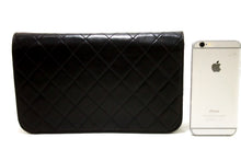 CHANEL Chain Shoulder Bag Clutch Black Quilted Flap Lambskin R63-Shoulder Bag-hannari-shop