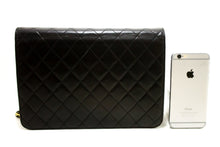 CHANEL Chain Shoulder Bag Clutch Black Quilted Flap Lambskin R79-Shoulder Bag-hannari-shop