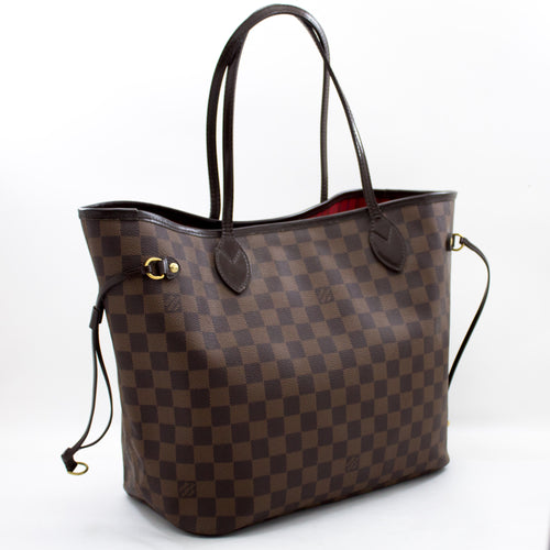 路易威登(Louis Vuitton)丹尼尔(Damier Ebene)Neverfull MM肩背包帆布t58-hannari-shop