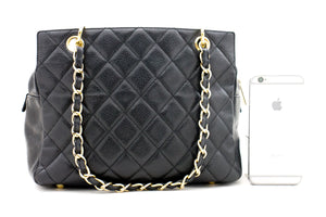 "CHANEL 2.55 Double Flap 10"" Chain Shoulder Bag Black Lambskin p69"