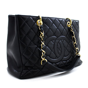 "CHANEL Caviar GST 13 ""Grand Shopping schoudertas schoudertas zwart u38 hannari-shop"