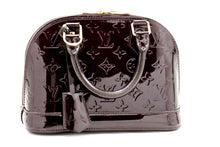 Louis Vuitton Alma BB Amaranth Monogram Vernis Bag Handbag M91678 a37 hannari-shop