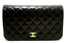 CHANEL Chain Shoulder Bag Clutch Black Quilted Flap Lambskin Purse p54-Chanel-hannari-shop