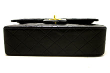 "CHANEL 2.55 Double Flap 9 ""Chain Shoulder Bag Black Lambskin R29-Chanel-hannari-shop"