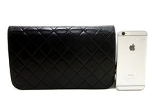 CHANEL Chain Shoulder Bag Clutch Black Quilted Flap Lambskin p62-Chanel-hannari-shop