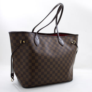 I-Louis Vuitton Damier Ebene neverfull MM Izimbotshana Zezikhwama I-Canvas Purse t56 hannari-shop