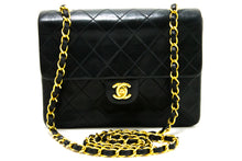 CHANEL Mini Square Small Chain Shoulder Bag Crossbody Black Purse R20-Chanel-hannari-shop