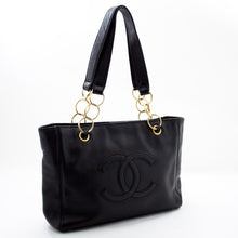 CHANEL Caviar Chain Shoulder Bag Tote Black Leather Gold Hw Purse x11 hannari-shop