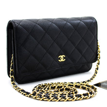 CHANEL Caviar Wallet On Chain WOC Black Shoulder Bag Crossbody x24 hannari-shop