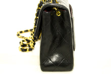 CHANEL Mini Square Small Chain Shoulder Bag Crossbody Black Flap Q66-anel-hannari-shop